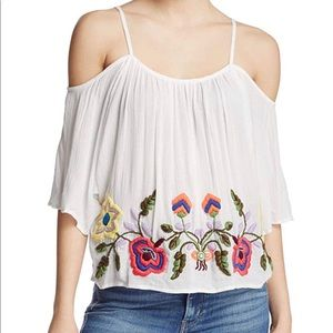 Piper off the shoulder tangerine top NWT XS